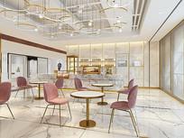 粉色大理石风格餐厅