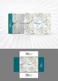 花纹背景包装盒设计