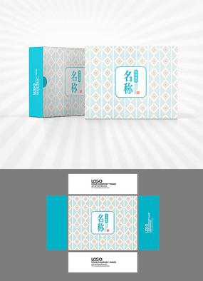 幾何圖案背景包裝設計