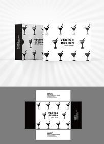 酒杯图案包装盒设计