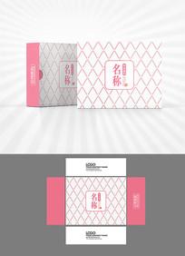 菱形底纹包装盒设计