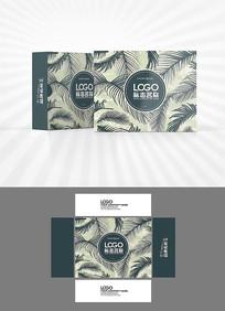 热带植物绿叶背景包装设计