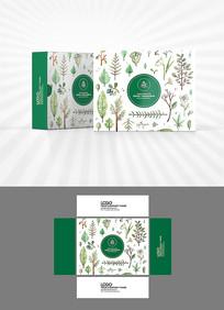 森系绿植包装盒设计