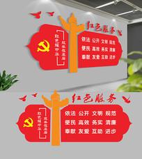 社区党建红色服务党建文化墙