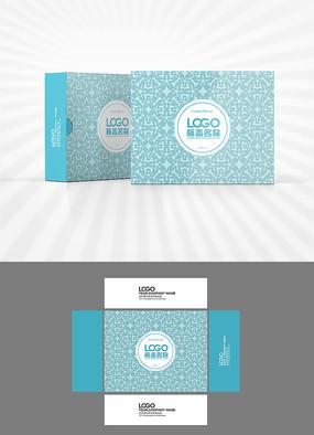 矢量花纹包装盒设计