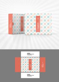 雪花底纹包装盒设计