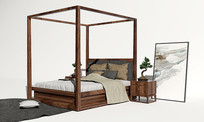 中式高架床