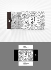黑白中式祥云包装设计