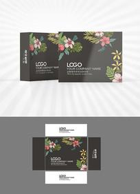 黑色花朵背景包装设计