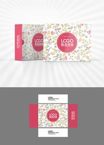 花朵底纹包装盒设计