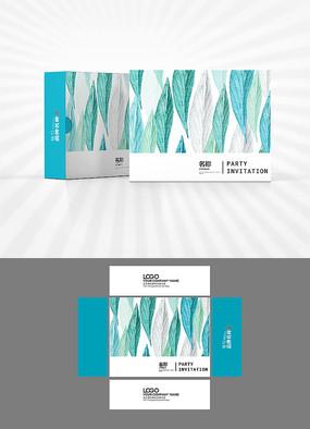 绿叶背景包装盒设计