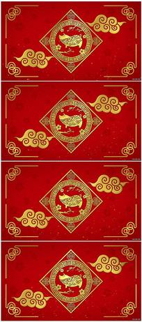 4k新年春节背景视频