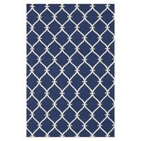 藏蓝色规则图案排列地毯意向