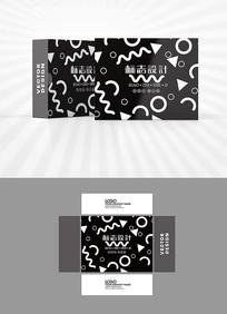 黑色卡通图案包装盒设计
