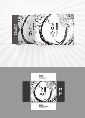 矢量花朵背景包装盒设计