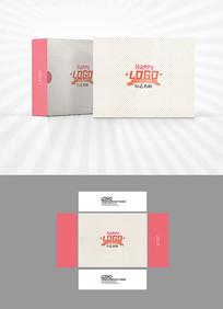 淡雅背景包装盒设计