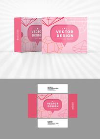 粉色背景包装设计