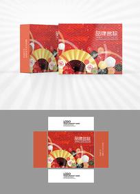 红色喜庆背景包装设计