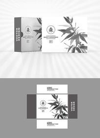 水墨竹子包装盒设计