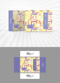 彩色底纹包装盒设计