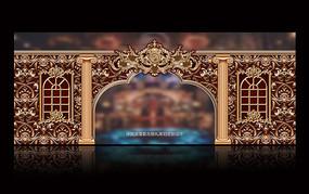复古婚礼主题背景板拱门