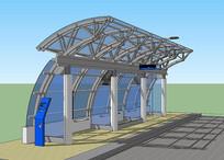 钢架极简公交站
