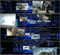科技通道圖文展示視頻模版