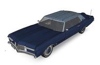 蓝色古典汽车模型