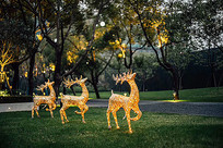 圣诞小鹿户外装饰亮化小品