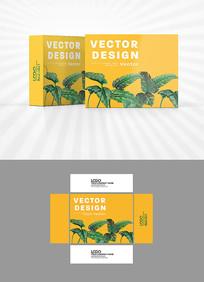 树叶装饰图案包装设计