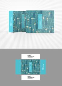 烟斗底纹包装盒设计