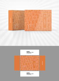 植物底纹包装盒设计
