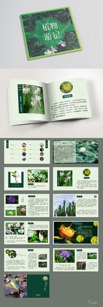 绿色清新植物花卉宣传画册