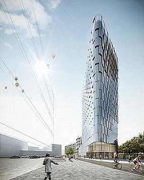 玻璃建筑高楼大厦