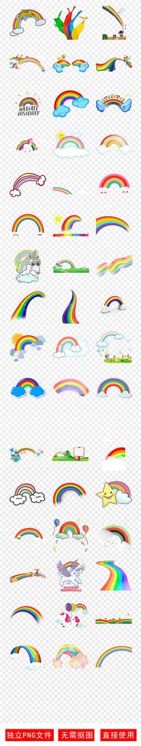幼儿园绘画手绘彩虹彩虹素材