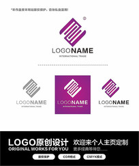 紫色简约公司logo