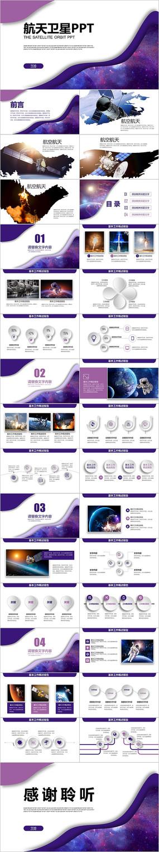 航天科技卫星发射航空PPT