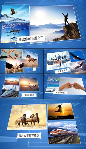科技企业宣传图文展示AE视频模版