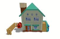 卡通住宅su模型