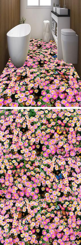 花朵小花地贴地画