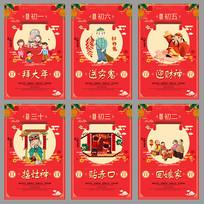 喜庆春节习俗海报