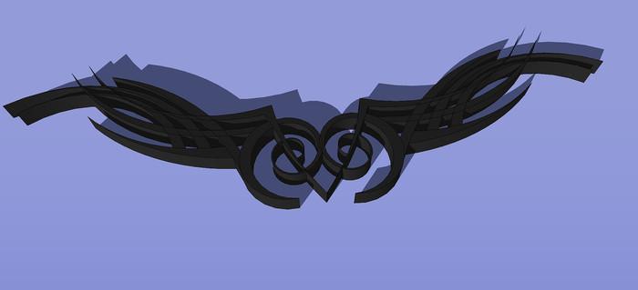 3D纹身图案SU模型