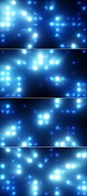 蓝色闪烁灯光舞台背景视频