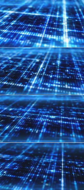 蓝色闪烁数字科技高清背景视频
