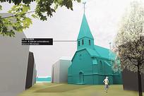 欧式建筑模型效果图