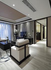 中式客厅电视墙装饰