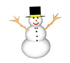 雪人3d模型