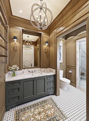 豪华卫生间装修设计 JPG