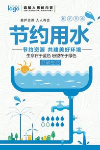 节约用水海报