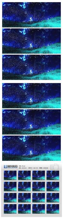 梦幻森林梦境粒子视频素材